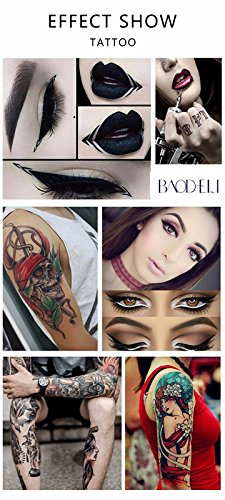 USA-baodeli@ 23Colors Permanent Makeup Cosmetic Tattoo Ink Kit Micro Pigments Color 1/2 oz For Permanent Makeup Eyebrow Eyeliner Lip