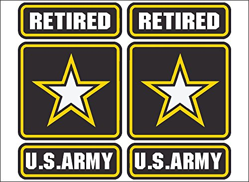 (US Army Retired (PAIR) vehicle or home decor decal, custom wall decor, vehicle decals and stickers.)