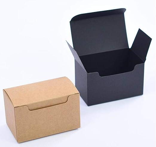 CTOBB 20 Cajas de cartón de Color marrón para Embalaje de Tarjetas ...
