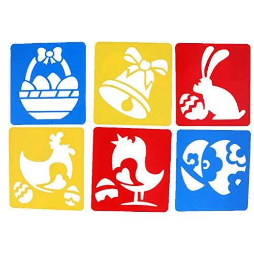Fityle 6つ入り 子供教育 おもちゃ 幼稚園 DIY工具 描画テンプレートステンシル 早期教育 ハンドメイク ルーラー - #1