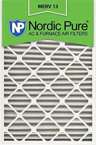 Nordic Pure 24x30x2M13-3 24x30x2 MERV 13 Pleated AC Furnace Air Filter, Box of 3, 2-Inch