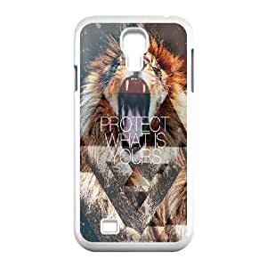 Custom Wolf and Moon S4 Cover Case, Wolf and Moon Customized Phone Case for Samsung Galaxy S4 I9500 at Lzzcase