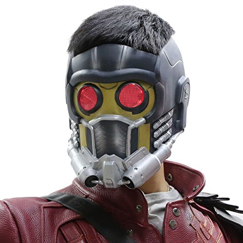 Star Lord Halloween Costume (Star Mask Lords Deluxe Helmet LED Halloween Adult Cosplay Costume Prop Xcoser)