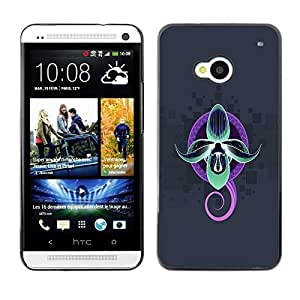 Impact Case Cover with Art Pattern Designs FOR HTC One M7 Neon Abstract Octopus Betty shop