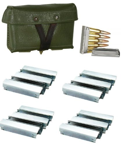 Ultimate Arms Gear Chinese Chi Com Chicom Type 53 Military Surplus Green Mosin Nagant M38 M44 91/30 1891 91 30 7.62x54 7.62x54R + Pack Of 20 Steel Stripper Clips (Sks Magazine Steel compare prices)