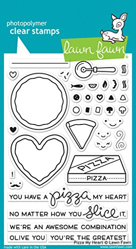 Lawn Fawn Clear Stamp Pizza product image