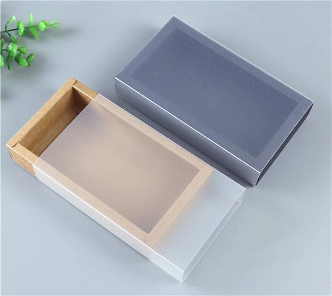 9 Grandezze Kraft regalo Bianco Nero Imballaggio Scatola Con La Finestra Kraft scatola di carta regalo scatola di carta con il coperchio della scatola regalo scatola di cartone