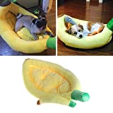 NNDA CO Banana Boat Shaped Dog Bed, Soft Warm Pet Cushion Cat Mat (2#)