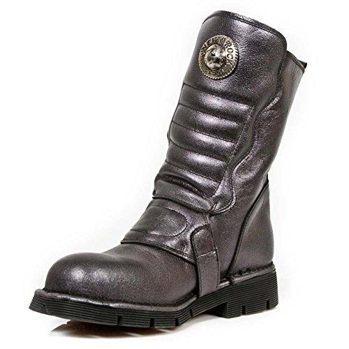 Rock Men's Leather Grey R9 Comfort New 1471 Boots Light Black M d5xqpw