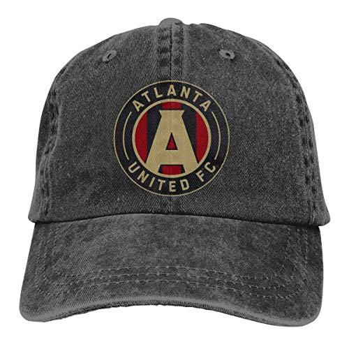 Hip Hop Atlanta United Racer Adjustable Cowboy Cap Denim Snapback Hat for Women Men]()