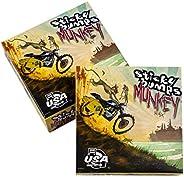 Sticky Bumps Monkey Warm/Trop Surfboard Wax, White, Pack of 3
