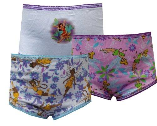 Disney Fairies Tinkerbell and Friends 3 Pack Girls Panties for Little Girls (6)