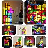 Tetris DIY Urbanizable Juego retro estilo apilable LED lámpara de escritorio