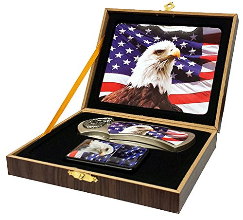 Eagle Head American Flag STYLE #2 Folding Hunting Knife for sale  Delivered anywhere in USA