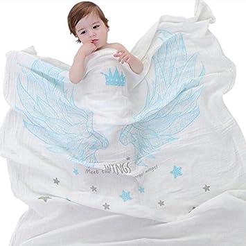 jycra muselina mantas, transpirable algodón orgánico doble capa gasa toalla de bebé manta de recepción
