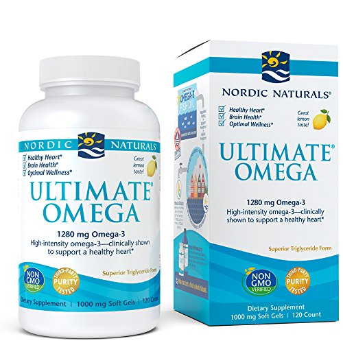 Nordic Naturals Ultimate Omega SoftGels - Concentrated Omega-3 Fish Oil Supplement With More DHA & EPA, Supports Heart Health, Brain Development and Overall Wellness, Burpless Lemon Flavor, 120 Count