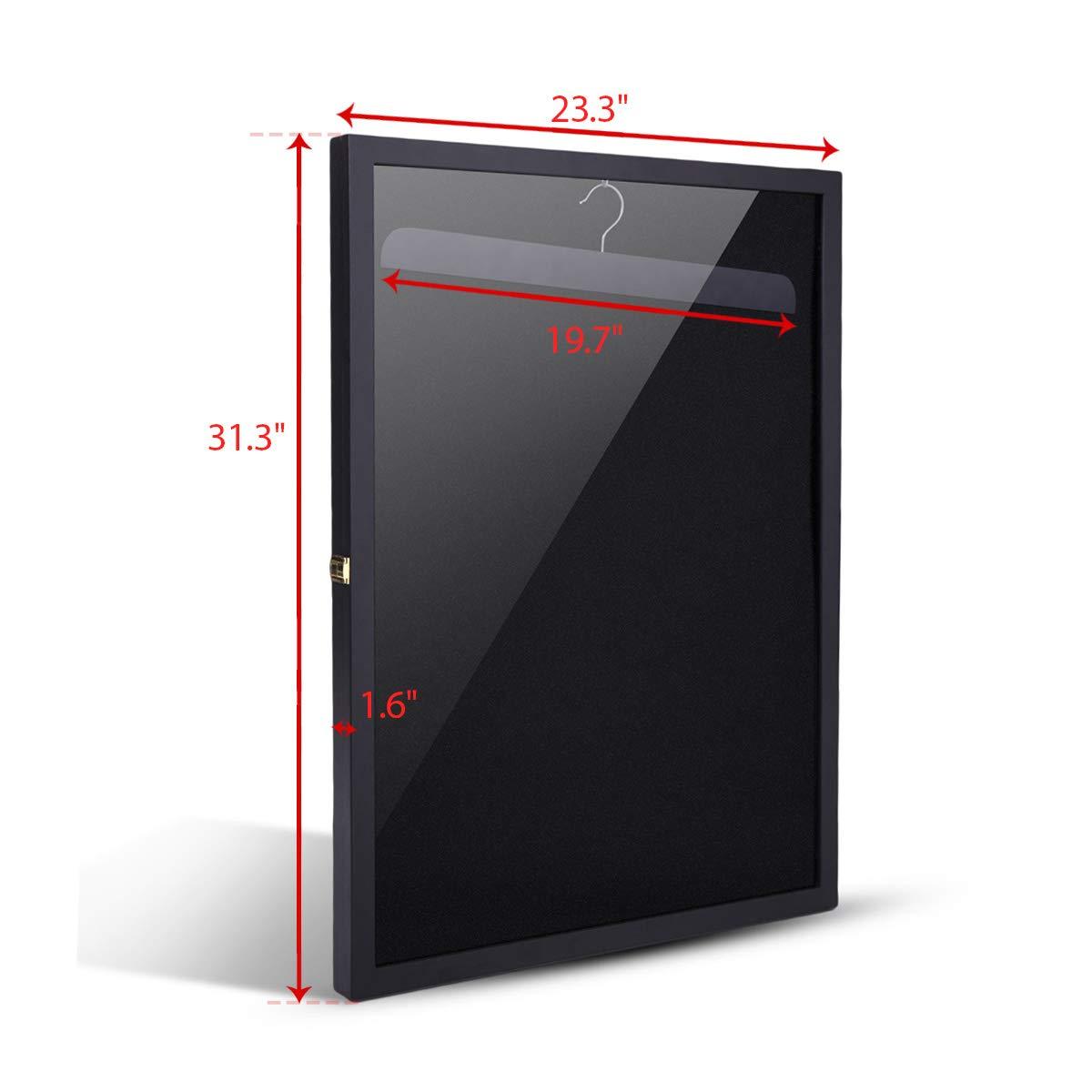 betterhomechoice Black Sports Jersey Frame Box Wall Display/Case Rack Frame Locable (Black) by betterhomechoice (Image #3)