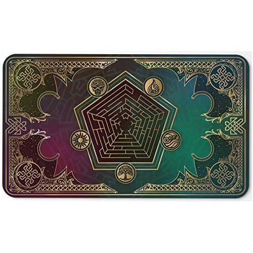 Paramint Mana Blast | MTG Playmat | Perfect for Magic The Gathering, Pokemon, YuGiOh, Anime | TCG Card Game Table Mat | Durable, Thick, Cloth Fabric Top with Rubber Bottom by Daniel Ziegler