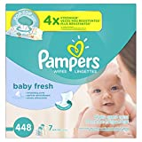 Baby : Pampers Baby Fresh Water Baby Wipes 7X Pop-Top Packs, 448 Count