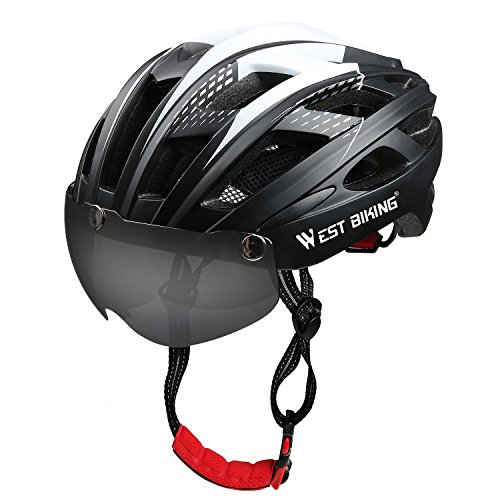 ICOCOPRO Bike Helmet with Detachable Magnetic Visor Shield Goggles &...