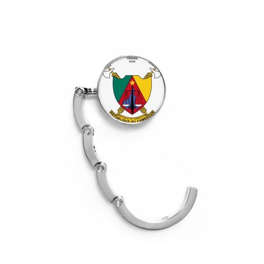 Yaounde Cameroon National Emblem Table Hook Folding Bag Desk Hanger Foldable Holder