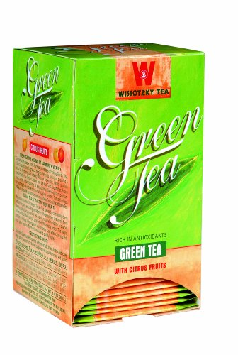Wissotzky Green Tea, Citrus Fruits - Kosher Parve / Passover & All Year Round (Is All Fruit Kosher)