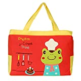 [Sunny Frog] Embroidered Fabric Art Shoulder Tote Bag (14.79.83.7)
