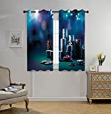 Stylish Window Curtains,Poker Tournament Decorations,Gaming Table with Poker Chips Dramatic Display Vegas Leisure Decorative,Multicolor,2 Panel Set Window Drapes,for Living Room Bedroom Kitchen Cafe