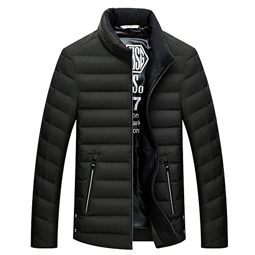 collar coats men's lightweight side stand leisure eu56 zipper warm short green padded dark jacket down eu46 pocket keep dIqxw4O