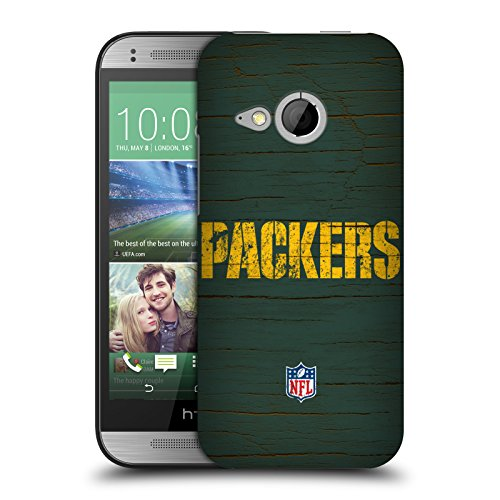 Official NFL Distressed Green Bay Packers Logo Hard Back Case for HTC One mini 2