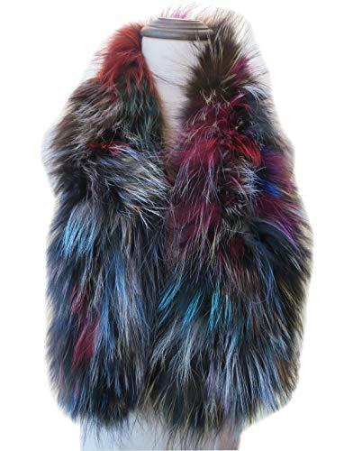 - Women's Real Fox Silver Fox Fur Scarf Neckerchief Wrap Multiple Colors Party (Silver Fox Fur)