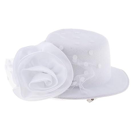 B Blesiya Niños Niñas Sombreros FProductos de Boda Cumpleaños Fiesta Cocina - Estilo 2-Blanco