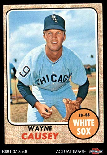 1968 Topps # 522 Wayne Causey Chicago White Sox (Baseball Card) Dean's Cards 4 - VG/EX White Sox
