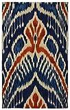 "Cheap Rugsmith"" Crown Ikat Bohemian Area Rug, 5'6″ x 8'6″, Blue"