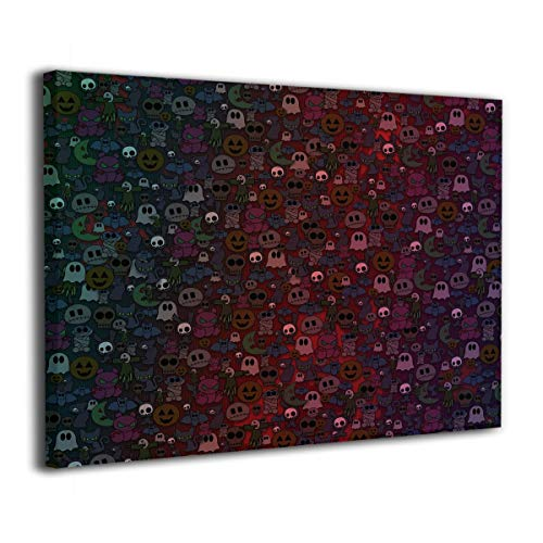 Janeither Canvas Wall Art Happy Halloween Little Monsters Artistic 16
