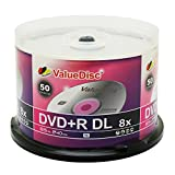 Value Disc Double Layer DVD+R DL 50pk in Spindle (cake box)