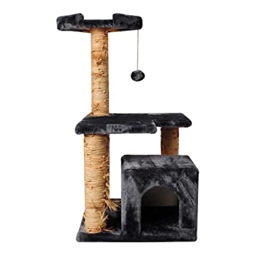 Amazon.com: GLMAMK Cat Climbing Frame,Scratching Post Kitten Furniture Playhouse,Play Towers & Trees for Cats: Sports & Outdoors