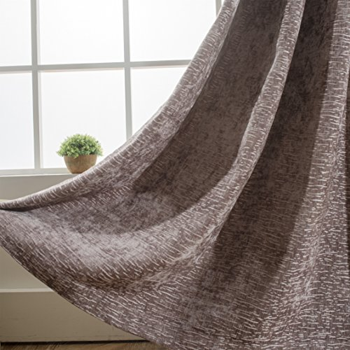 Dreamate Chenille Room Darkening Thermal Insulated Blackout Grommet Window Curtain Drapery for Living Room Bedroom,Buy 1 Get 1 Cushion Cover with Fabric Free,54X84 inch,1 Panel+1 Cushion ()