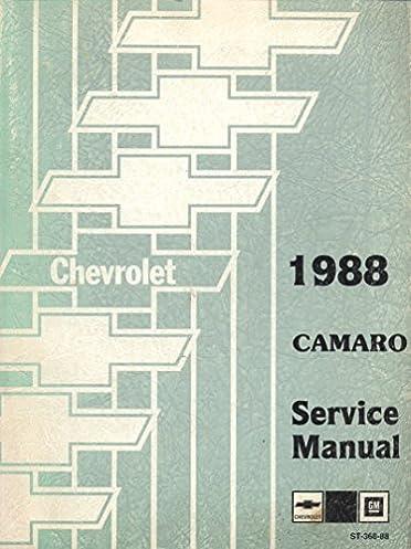 1988 camaro original gm service manual includes electrical rh amazon com 1995 Camaro 1968 camaro service manual