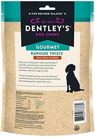 Dentley's Gourmet Rawhide Twist Dog Treat Chicken 30 Count