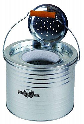 Flambeau Outdoor 6065BC Galvanized 2-Piece Floating Live Bait Bucket, - 8 Bait Quart Bucket