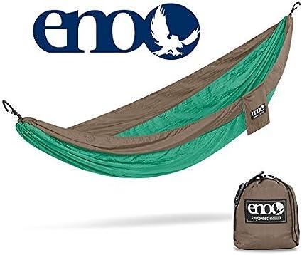 ENO Eagles Nest Outfitters SingleNest Hammock Portable Hammock for One Orange//Grey