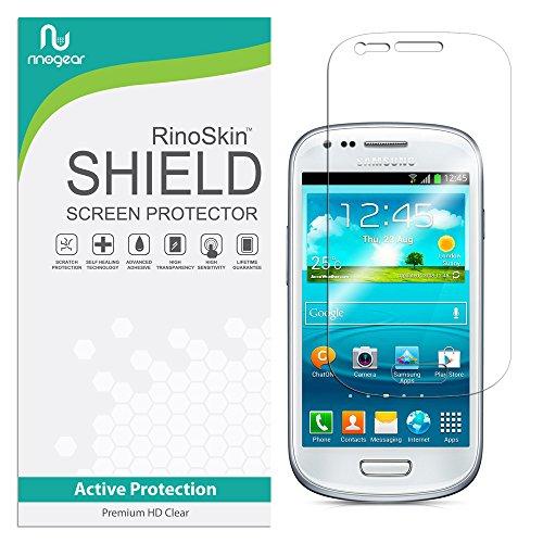 RinoGear for Samsung Galaxy S3 Mini Screen Protector Case Friendly Screen Protector for Samsung Galaxy S3 Mini Accessory Full Coverage Clear Film (Samsung Mini S3 Screen Protector)