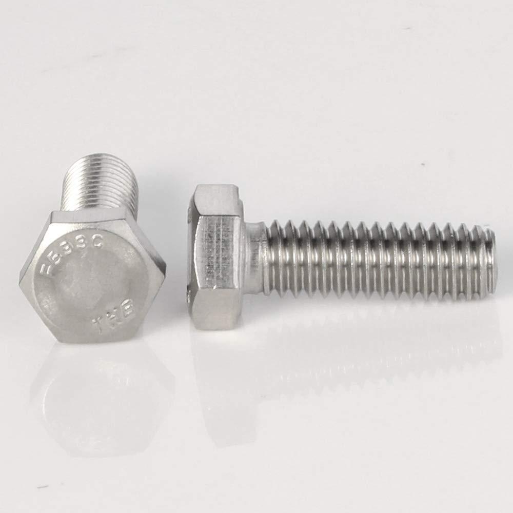 External Hex Drive 25 PCS 304 5//16-18 x 1 Hex Head Cap Screw Bolts Full Thread Stainless Steel 18-8