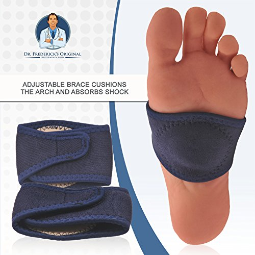 Dr. Frederick's Original Arch Support Brace Set - Two Orthotic Insole Wraps for Plantar Fasciitis and Flat Feet - Fast Relief of Foot Pain by Dr. Frederick's Original (Image #7)