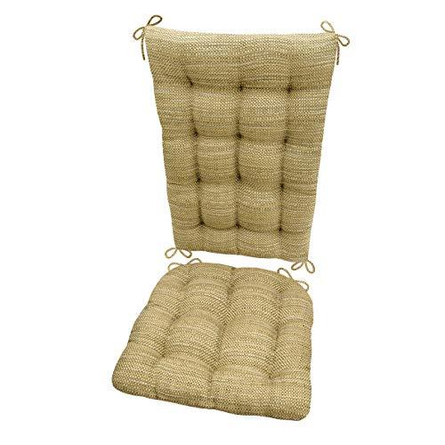 Barnett Products Rocking Chair Cushions - Brisbane Camel - Size Standard - Latex Foam Filled Cushion - Reversible - (Neutral)