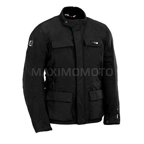 Chaqueta de moto textil para hombres,Spyke East Coast WP (50, Negro)