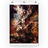 The Fall of the Damned - Masterpiece Classic - Artist: Peter Paul Rubens c. 1620 (24x36 Collectible Giclee Gallery Print, Wall Decor Travel Poster)