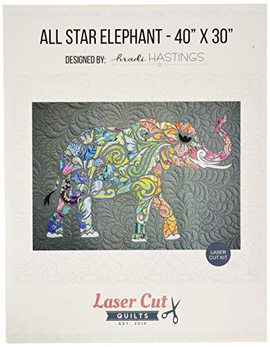 Laser Cut Quilts LCQF895040 All All Star Elephant Laser Cut Kit Pattern