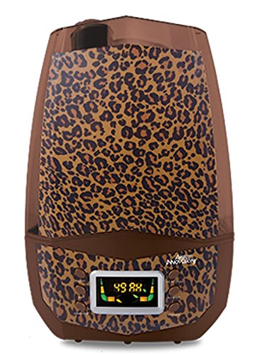 Clean Mist Smart Ultrasonic Humidifier 80 Hour Run Time Model MH-512 Leopard